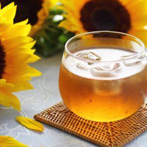 ひまわりと氷の入った高級老茶